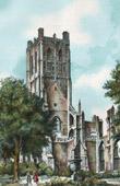 View of Saint-Omer - Nord-Pas-de-Calais (France) - Abbey of St Bertin - Tower