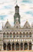 View of Saint-Quentin - Picardy (France) - City Hall