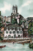 View of Quimperl� - Brittany (France) - La Haute Ville - High Town