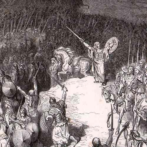 Antique Prints Biblical Scene Bible Judas Maccabeus