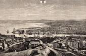 View of Marseille - Provence (France) - Basilica Notre-Dame-de-la-Garde