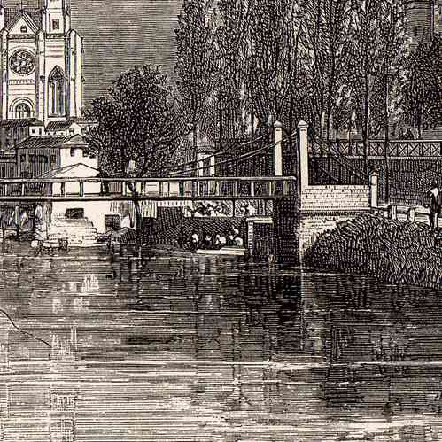 gravures anciennes vue de niort deux s vres france gravure sur bois 1881. Black Bedroom Furniture Sets. Home Design Ideas