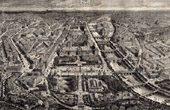 Aerial View of Paris (France) - Triumphal arch