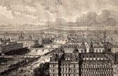 Aerial View of Paris - Saint Gervais (France)