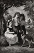 Three little girls (Narcisse Diaz de La Pe�a)