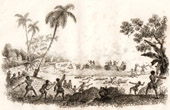 Samoa Islands - Manua Island - Massacre of the Captain Fleuriot de Langle and his Companions