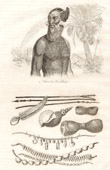 Marshall Islands - Ratak Chain - Traditional Costume - Weapons and Ustensils