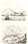 Print of Ascension Island - Sandy Bay - William Dampier