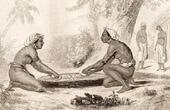 Vanikoro - Santa Cruz Islands - Man and Woman Grating the Taro