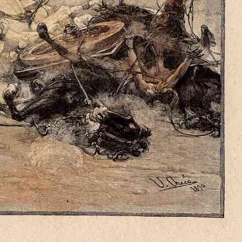 gravures anciennes rome antique course de chars gravure sur bois 1892. Black Bedroom Furniture Sets. Home Design Ideas
