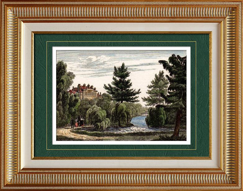 Gravures Anciennes & Dessins   Vue du Loiret (France) - Région Centre   Taille-douce   1835