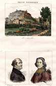 View of Rocamadour - Midi-Pyr�n�es (Lot - France) - Portraits of Jacques Charles Dubois and F�nelon