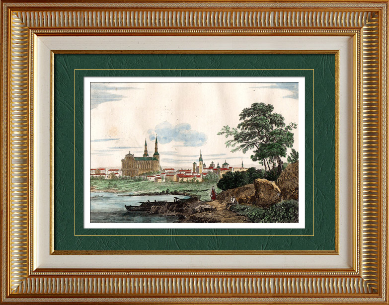 Antique Prints & Drawings | View of Châlons-en-Champagne - Châlons-sur-Marne (Marne - France) - Champagne-Ardenne | Intaglio print | 1835