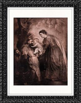 Flamenca pintura - San Francisco de As�s, Ni�o Jes�s y Sant�sima Virgen Mar�a (Pierre Paul Rubens)