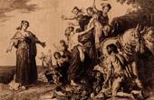Dutch painting - Odysseus and Nausicaa (Pieter Lastman)