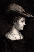 Portrait of Saskia van Uylenburgh (1612-1642) - Wife of Rembrandt
