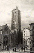 Historical Monuments of Paris - Saint-Jacques Tower in 1680 - Tour Saint-Jacques