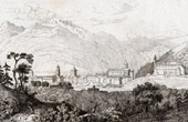 View of Chur - Canton of Graubünden or Grisons (Switzerland)