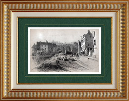 French painting - Village (Eug�ne Cic�ri)