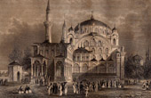 View of Sultan Selims Moschee in Constantinopel (Turkey)