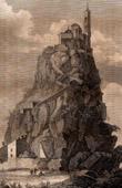 View of St Michael's Mount - Mont-Saint-Michel (Manche - France)