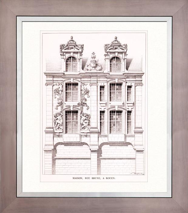 Gravures anciennes gravure de dessin d 39 architecte for Dessin d architecture