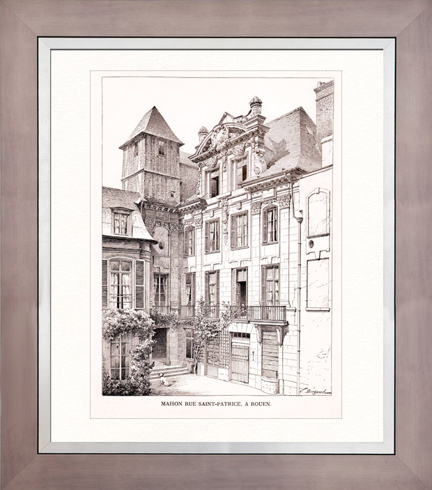 Gravures anciennes gravure de dessin d 39 architecte for Dessin architecture maison