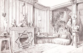 Drawing of Architect - Architecture - Ceramic - Salon (E. M�ller et Cie)