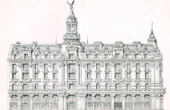 Drawing of Architect - Architecture - Paris - Building - Immeuble de la New York (J. Bernard & E. Robert)