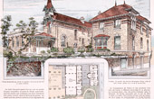 Dibujo de Arquitecto - Arquitectura - Escuela en Villeneuve-Saint-Georges (E. Danest)