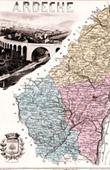 Map of France - 1881 - Ard�che (Privas - Montgolfier - Olivier de Serres)