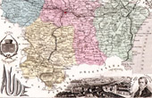 Map of France - 1881 - Aude (Carcassonne - Fabre Deglantine)