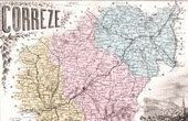 Map of France - 1881 - Correze (Tulle - Mar�chal Brune)