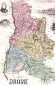 Map of France - 1881 - Drôme (Valence - Championnet - Augier)