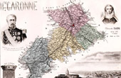 Map of France - 1881 - Haute-Garonne (Toulouse - Mar�chal Niel - Cl�mence Isaure)