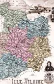 Map of France - 1881 - Ille-et-Vilaine (Rennes - Duguay-Trouin - Châteaubriand - de Lamennais)