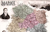 Map of France - 1881 - Marne ( Châlons sur Marne - Châlons-en-Champagne - Royer-Collard - Colbert)
