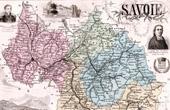 Map of France - 1881 - Savoy - Savoie (Chambéry - Boigne - Abbé de Saint Réal)