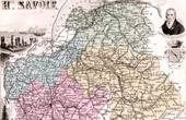 Map of France - 1881 - Haute Savoie (Chamonix - Pont du Diable - Saint Fran�ois de Sales - Berthollet)