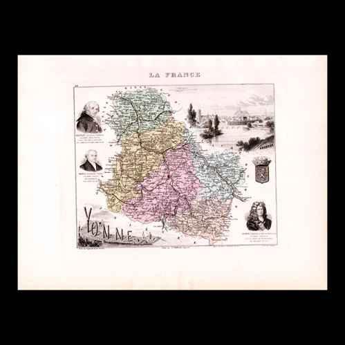 gravures anciennes carte de france 1881 yonne auxerre soufflot vauban s bastien le. Black Bedroom Furniture Sets. Home Design Ideas