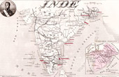 Carte de France - 1881 -  Inde (Pondichéry)
