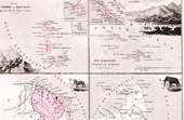 Map of France - 1881 - Saint Pierre and Miquelon - Marquesas Islands (Nouméa) - French Guiana