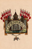 Coat of arms of the Copenhagen city (Denmark)