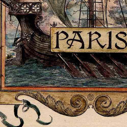 gravures anciennes armoiries de la ville de paris. Black Bedroom Furniture Sets. Home Design Ideas