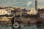 View of Rome - Tiber - Cloaca Maxima (Italy)