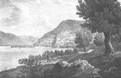 View of Sch�nb�hel-Aggsbach - Sch�nb�hel Castle - Cathedral of Sch�nb�hel - Danube (Austria)