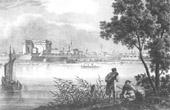 Ansicht von Schurtschui - Festung - Walachei - Donau - Danuvius (Rum�nien)