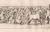 Antique print - Sepulchre - Tomb of Charlemagne - Aachen (Germany)