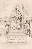 Saint Peter Give the Pallium to the Pope Leo - Charlemagne - Charles the Great