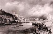 Vista de Puente d'Ainay - Lyon - R�dano (Francia) - Barrio Saint-Georges